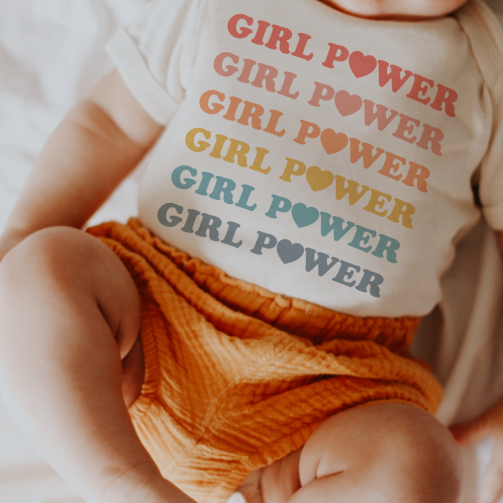 Pastel Rainbow Girl Power Onesie - Hawaiian Children's Books