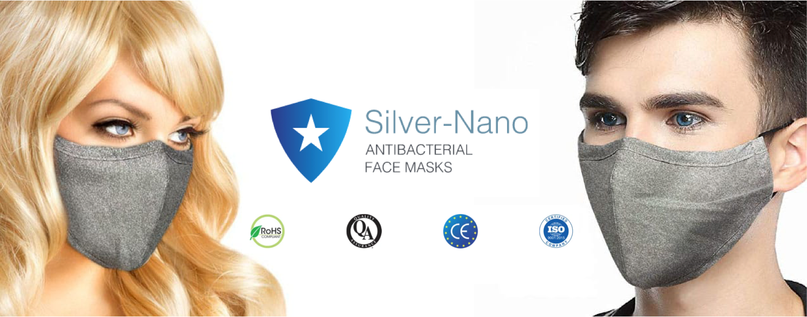 Buy Silver-Nano Face Masks Certified in stock fast delivery