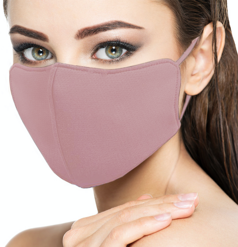 Buy Reusable Silver-Nano© Antibacterial Face Mask with Ear Strap Adjustable Dusty Pink - Silver-Nano Face Masks