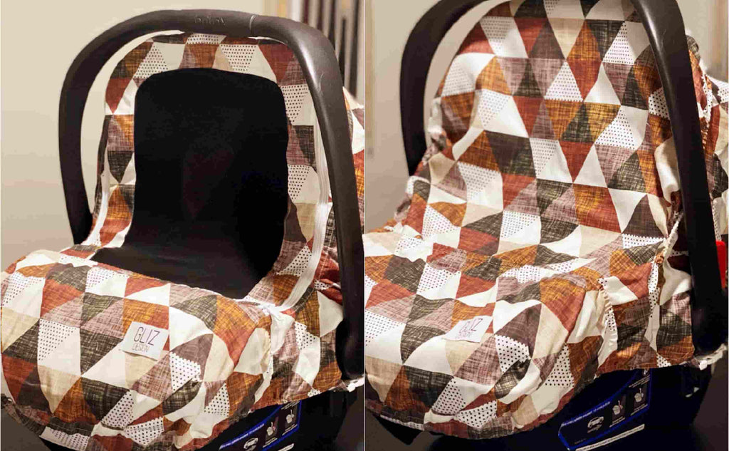 Cinnamon Mocha Olive baby seat cover