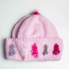 Pastel Pink Sparkle Hat - Adult