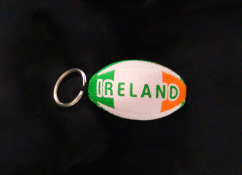 Rugby Ball Keychain - IRELAND