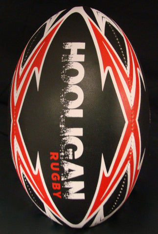 Hooligan Rugby Ball - Black