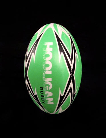 Hooligan Rugby Ball - Green