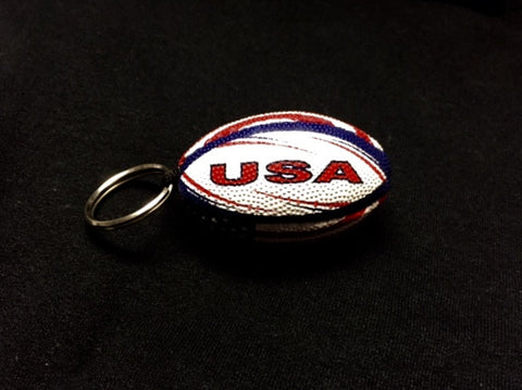 Rugby Ball Keychain - USA