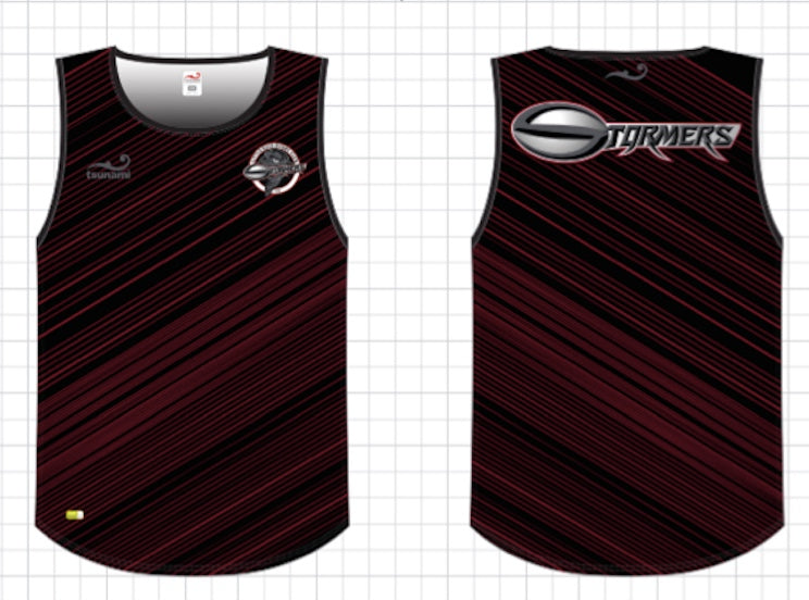 Little Rock Stormers Custom Tsunami Tank Top