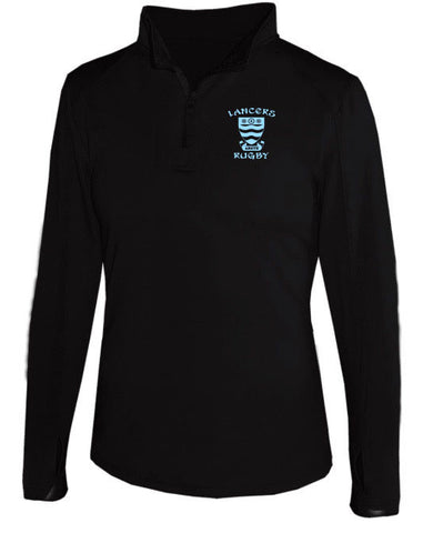 Lancer Rugby Women's 1/4 Zip - Black