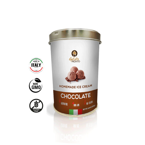 Gelato Pronto Chocolate - Instant Gelato & Ice Cream Base - 6 cans per 8.29 oz