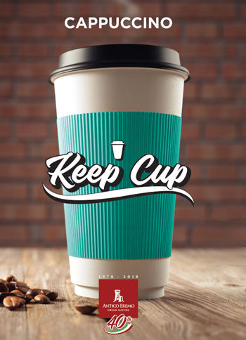 Keep Cup - Creme brulee Cappuccino - Imported from Italy