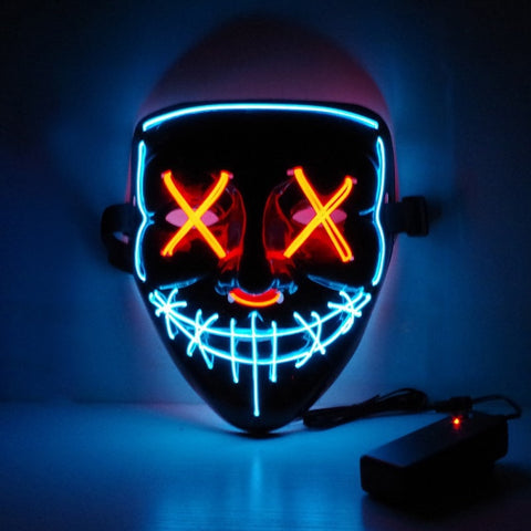 Neon Mask LED Light Up Party Masks