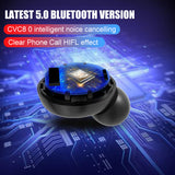 9D Stereo Wireless IPX7 Waterproof Earphones