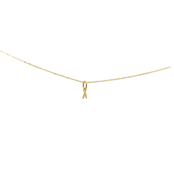 Mini Gold Initial Pendant