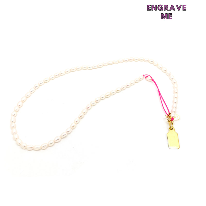 PEARL TAG NECKLACE