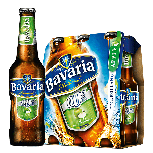 Bavaria 0.0% Non-Alcoholic Apple Malt 6x330mL