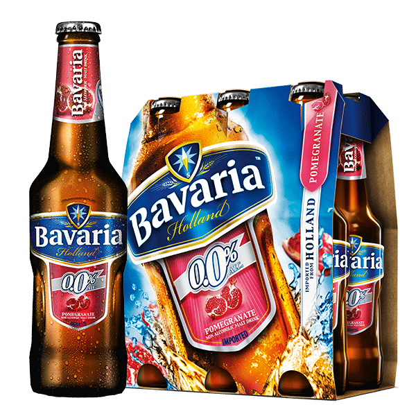 Bavaria 0.0% Non-Alcoholic Pomegranate Malt 6x330mL