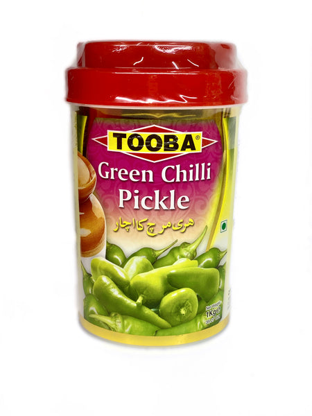 Tooba Green Chilli Pickle 1kg