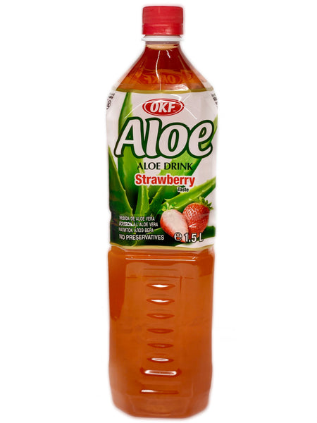 OKF Aloe Vera Drink Strawberry 1.5L