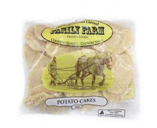 Family Farm Potato Cakes 1kg - Marmara Halal Meats