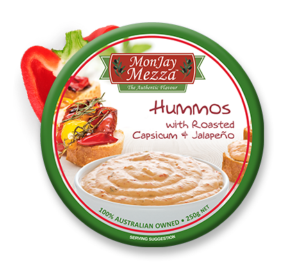 MonJay Mezza Hummos With Roasted Cap Dip 250g