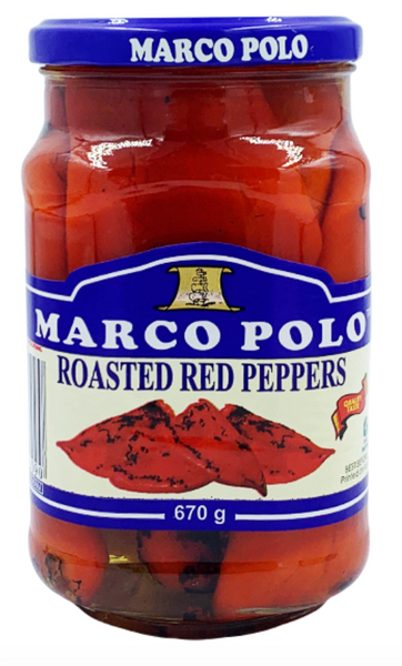 Marco Polo Roasted Red Peppers 670g
