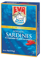 Eva Sardines In Vegetable Oil With Hot Pepper 115g