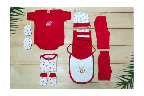 Infant New Born Gift Set-13 PCS  (Red)