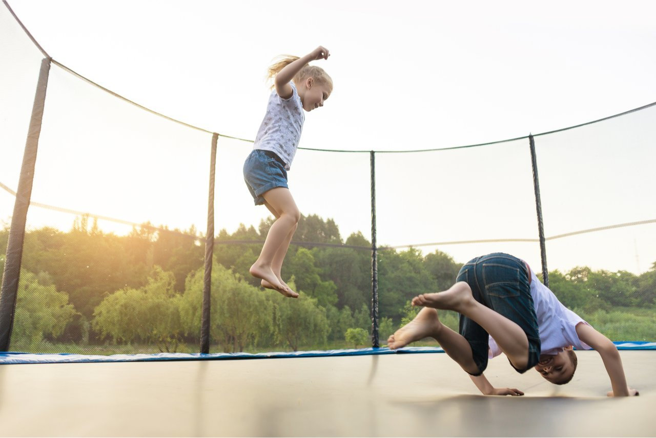 Backyard Trampolines with Kids