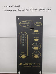 Archgard Optima PS1 OEM Control Panel - Part # 305-0050