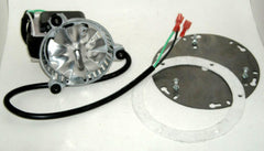 "US Stove 5660/5770 6"" High Quality Exhaust/Combustion Blower & 2 male clips - GA ExBlw & PP7906 & UniHub & White High Temp Gasket"