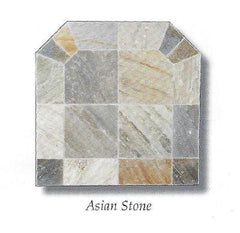 Asian Stone Hearth Ceramic Tile Pad Pellet Stoves Gray Brown Beige