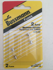 Control Panel Mini Glass Fuse: Pellet Stove- 2 Amp Bussmann BP-GMA-2A (2 pack)