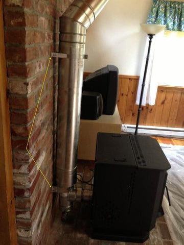 8 Inch Od Metal Chimney Conversion Wood Stove To Pellet