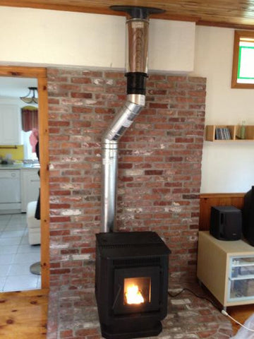 10 Quot Od Metal Chimney Conversion Wood Stove To Pellet 4dt