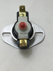 High Limit Switch Surface Mount (Snap Disk) - Pellet Stove- Selco Upgraded SES L250HM- Manual Reset