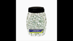 Clear Rain Drop Luster Zircon - American Fireglass 10lb Jar - 1 Inch Nuggets