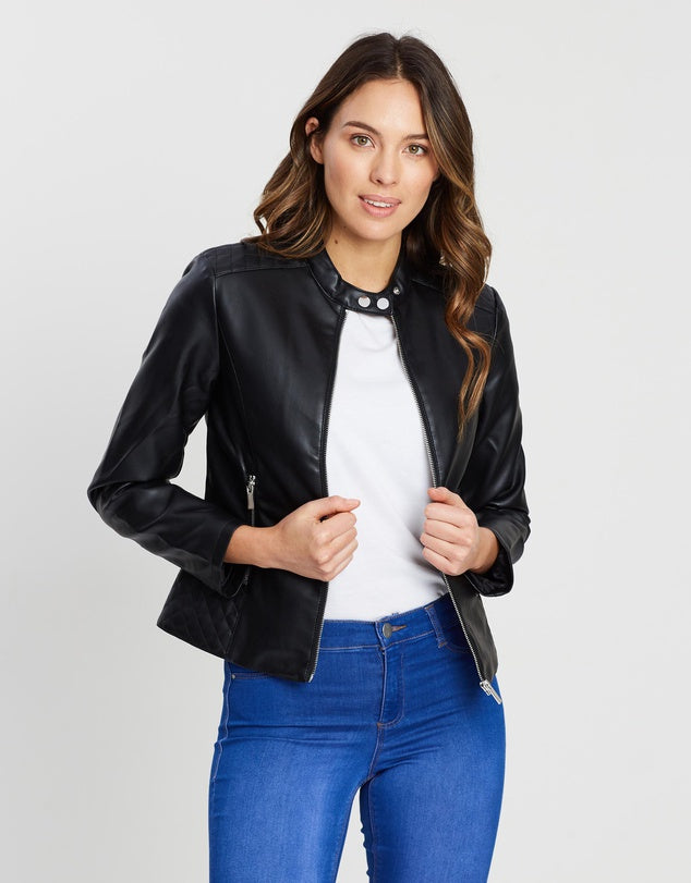 Women Leather Jacket > Biker Jackets, Women Leather Jacket