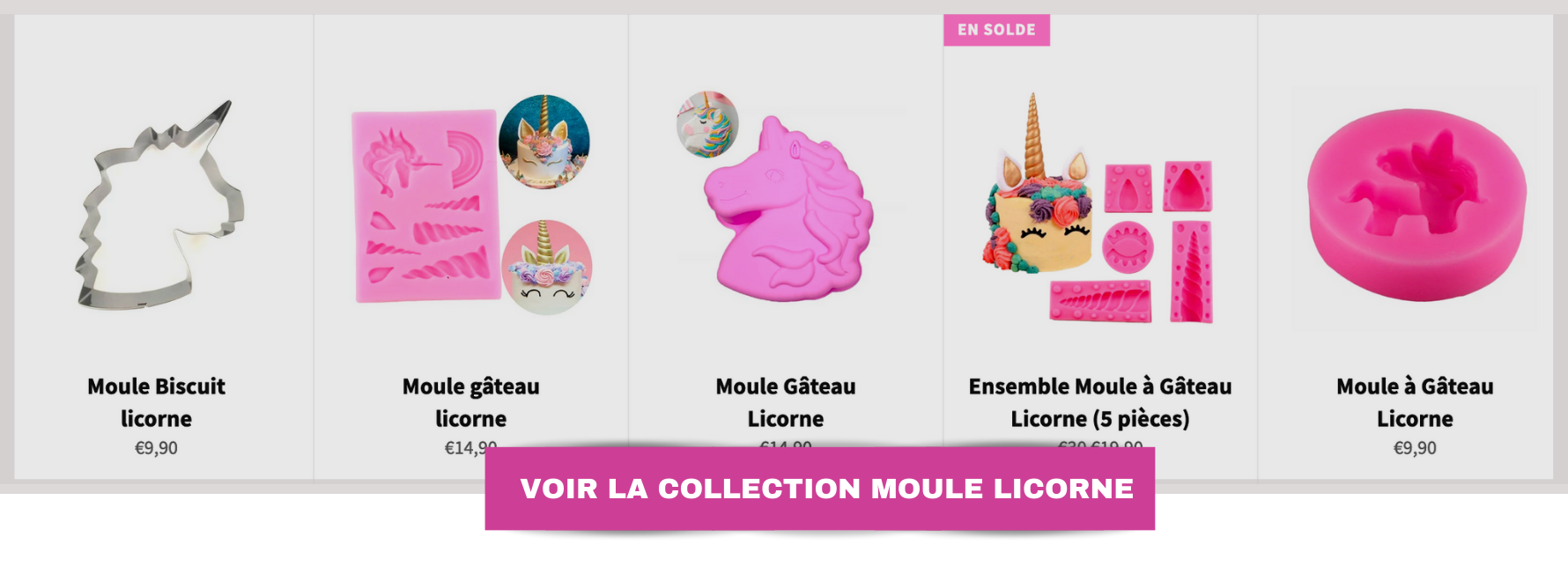 collection moule licorne