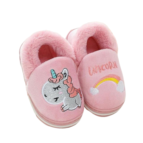 chaussons-licorne-rose-endormie
