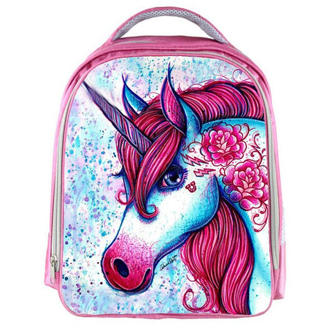 Cartable Licorne <br/> Pailleté