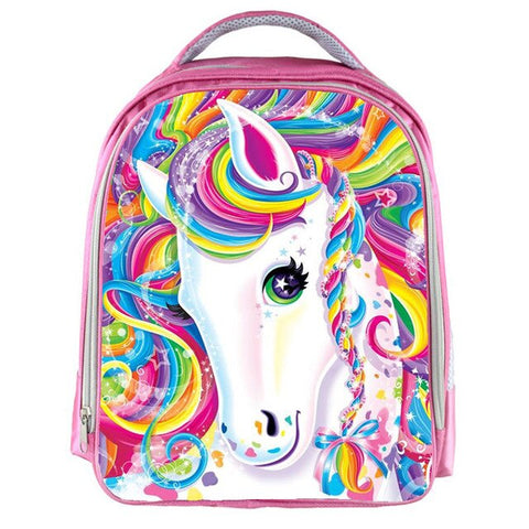 Cartable Licorne <br/> Rose Majestueux