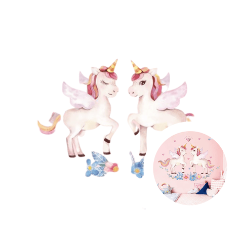 sticker licorne double