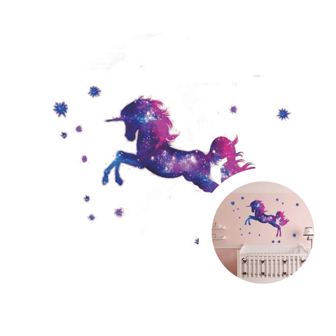 sticker licorne galaxie