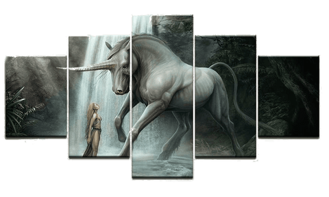 Tableau licorne jungle