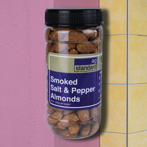 Classic Salt and Pepper Smoked Almonds