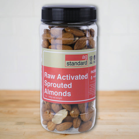 Activated Sprouted Raw Almonds - 7 oz