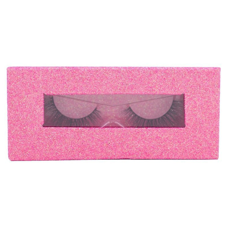 Magnetic Lash Box - 15 Glitter Hot Pink