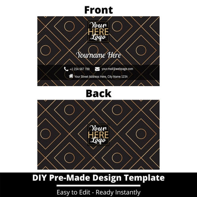 Business Card Design Template 226