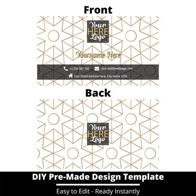 Business Card Design Template 228