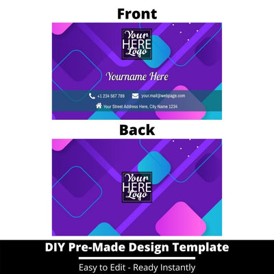 Business Card Design Template 235