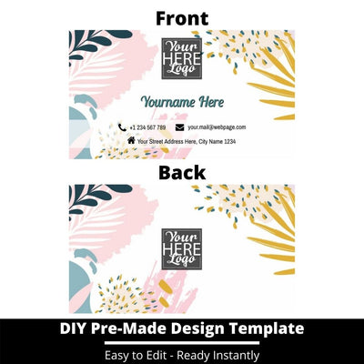 Business Card Design Template 236